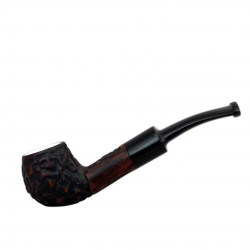 MAXIM DOMINO meerschaum lined brown pocket size pipe