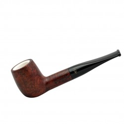 ORANGE billiard straight meerschaum lined pipe