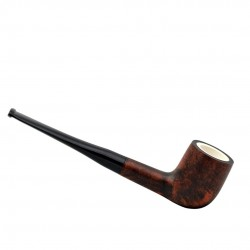ORANGE billiard meerschaum lined pipe