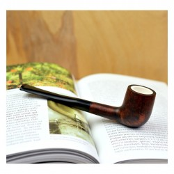 ORANGE billiard meerschaum lined pipe