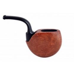 OROLOGIO briar orange smooth pocket size tobacco smoking pipe from Gasparini (Italy)