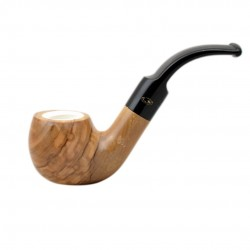 ULIVO olive tree bent meerschaum lined tobacco smoking pipe from Gasparini (It..