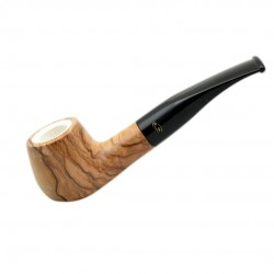 ULIVO olive tree curved brandy meerschaum lined tobacco smoking pipe from Gasp..