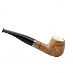 ULIVO olive tree curved brandy meerschaum lined tobacco smoking pipe from Gasparini (Italy)