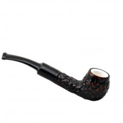 COCCIOLO petite briar rustic meerschaum lined tobacco smoking pipe from Gasparini (Italy)