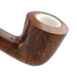 KENT long dark red billiard pipe with two stems