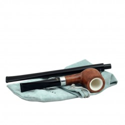 KENT long light brown straight pipe with two stems