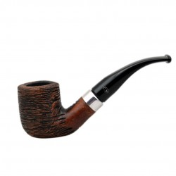 KENT RUSTIC Briar bent billiard brown rustic tobacco smoking pipe from Gasparini (Italy)