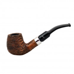 KENT RUSTIC Briar bent brandy rustic tobacco smoking pipe from Gasparini (Italy)