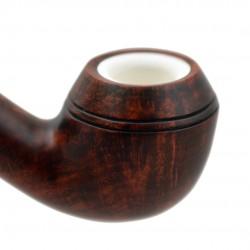 ORANGE rhodesian briar pipe