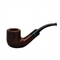 RUSTIC MARRONE (a buccia) bent billiard pipe