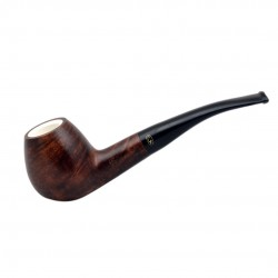 MEERSCHAUM briar curved brandy meerschaum lined tobacco smoking pipe (Gasparini, Italy)