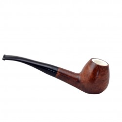 MEERSCHAUM briar curved brandy meerschaum lined tobacco smoking pipe (Gasparini, Italy)