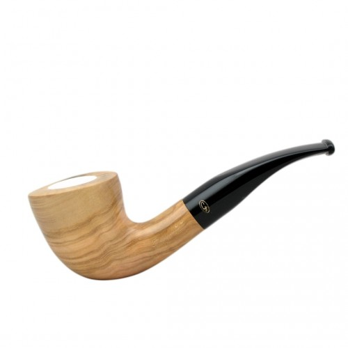 ULIVO bent dublin meerschaum lined tobacco smoking pipe