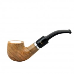 ULIVO bent billiard meerschaum lined tobacco smoking pipe