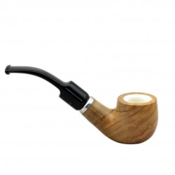 ULIVO bent billiard meerschaum lined tobacco smoking pipe