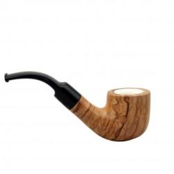 ULIVO bent billiard meerschaum lined pipe