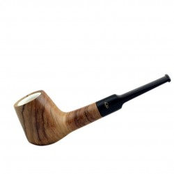 ULIVO straight volcano meerschaum lined tobacco smoking pipe