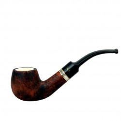 Brown bent meerschaum lined pipe