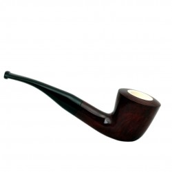 Bent dublin burgundy meerschaum lined pipe