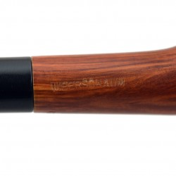 Curved billiard carved meerschaum lined pipe