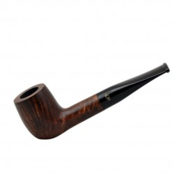 BRISTOL briar straight billiard dark brown tobacco smoking pipe from Gasparini (Italy)