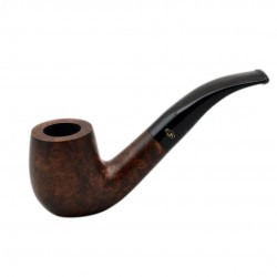 BRISTOL briar bent billiard brown tobacco smoking pipe from Gasparini (Italy)