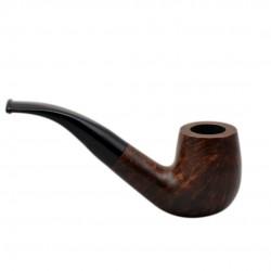 BRISTOL briar bent billiard brown tobacco smoking pipe from Gasparini (Italy)