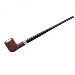 KENT briar long brown tobacco smoking pipe from Gasparini (Italy)