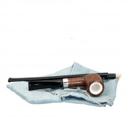 KENT briar long billiard tobacco smoking pipe from Gasparini (Italy)