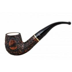 Meerschaum lined briar rustic billiard tobacco smoking pipe from Gasparini (It..