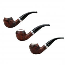 ORANGE rhodesian briar pipe