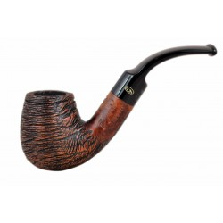 RUSTIC MARRONE Briar bent brandy dark brown rustic tobacco smoking pipe from Gasparini (Italy)