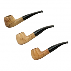 ULIVO curved brandy olive tree pipe