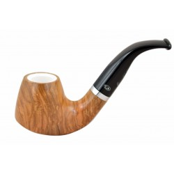 ULIVO olive tree bent brandy meerschaum lined tobacco smoking pipe from Gasparini (Italy)