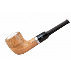 ULIVO olive tree billiard meerschaum lined tobacco smoking pipe from Gasparini (Italy)