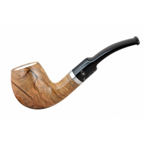 ULIVO olive tree egg bent meerschaum lined tobacco smoking pipe from Gasparini (Italy)