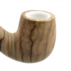 ULIVO bent billiard meerschaum lined pipe