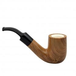 ULIVO meerschaum lined bent billiard pipe