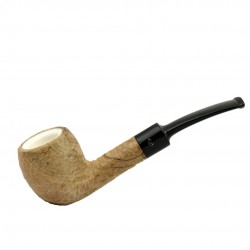 ULIVO curved rustic meerschaum lined pipe