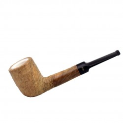 ULIVO straight billiard rustic meerschaum lined pipe