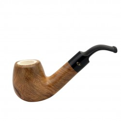 ULIVO bent egg meerschaum lined pipe