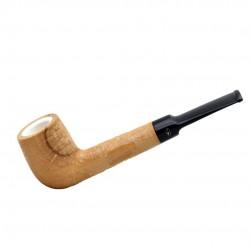 ULIVO straight billiard rustic meerschaum lined pipe