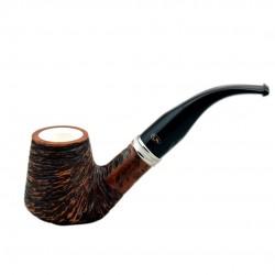 VEGA rustic meerschaum lined bent brandy pipe