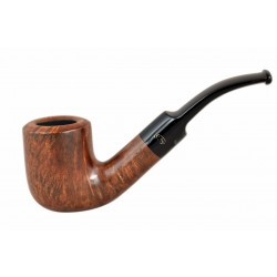 WALNUT briar bent chimney brown tobacco smoking pipe from Gasparini (Italy)