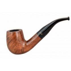 WALNUT briar bent billiard brown tobacco smoking pipe from Gasparini (Italy)