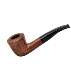 WALNUT briar bent dublin brown tobacco smoking pipe from Gasparini (Italy)