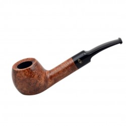 WALNUT briar bent apple brown tobacco smoking pipe from Gasparini (Italy)