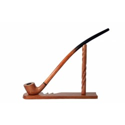 #81 Pear wood extra long tobacco smoking pipe with stand from Golden Pipe (Poland)