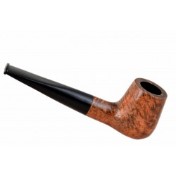 #70 Briar straight billiard light brown smooth tobacco smoking pipe from Golden Pipe (Poland)